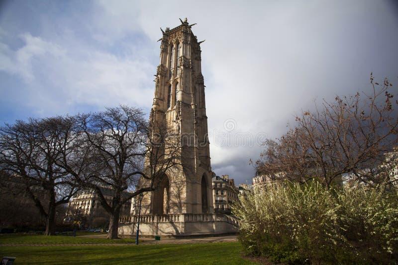 La torre di Saint-Jacques immagini stock libere da diritti