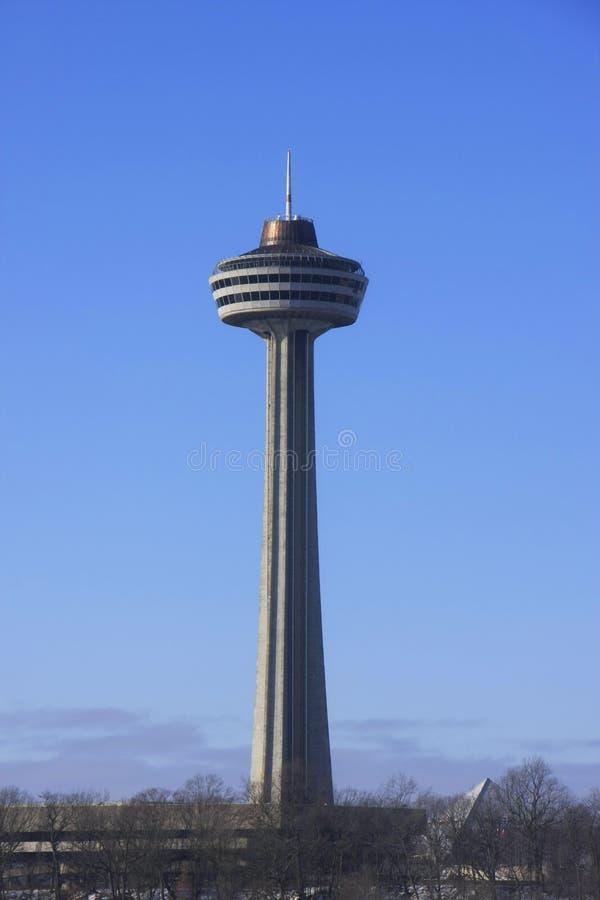 La torre di Skylon, cascate del Niagara, Ontario, Canada immagini stock