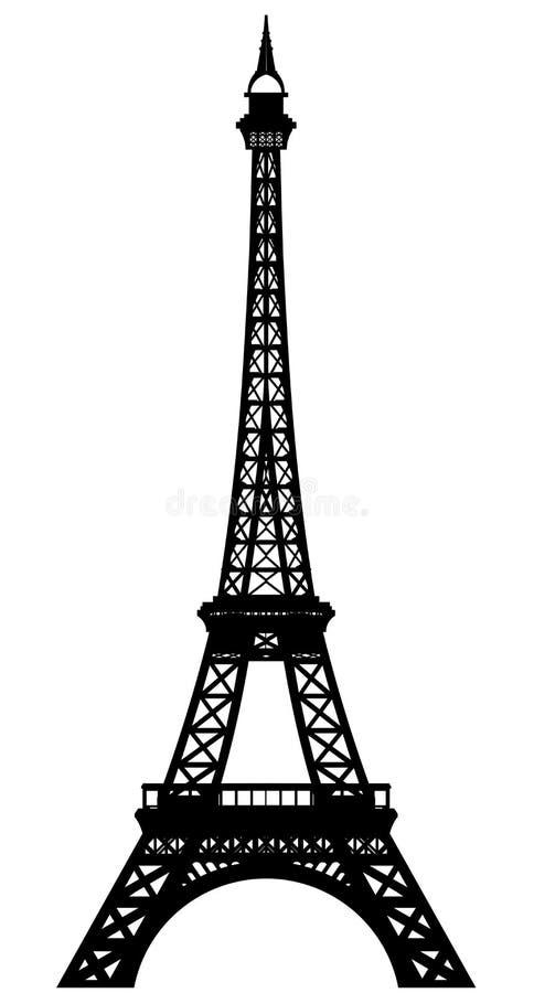 La torre Eiffel ilustración del vector