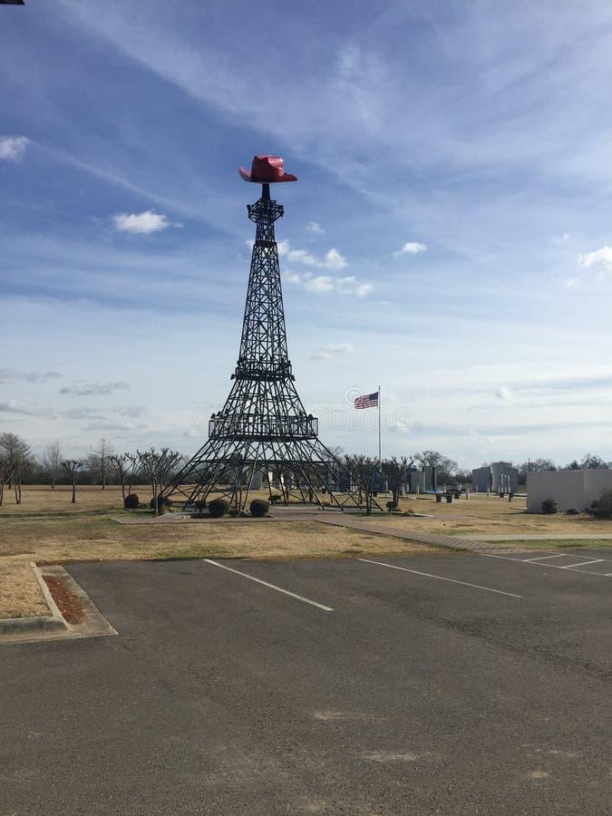 La torre Eiffel di Parigi il Texas immagini stock
