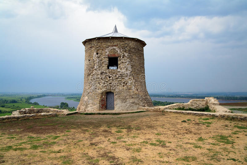 La torre en Elabuga, Rusia del diablo foto de archivo