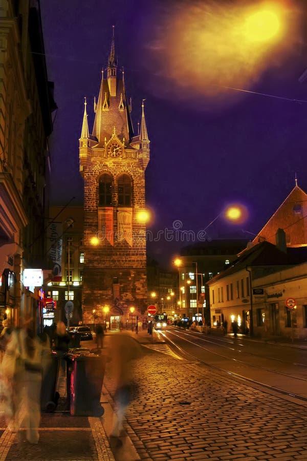 la torre en Praga imagenes de archivo