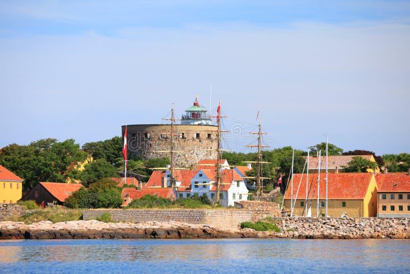 La torre grande Christiansoe Bornholm Dinamarca fotografía de archivo