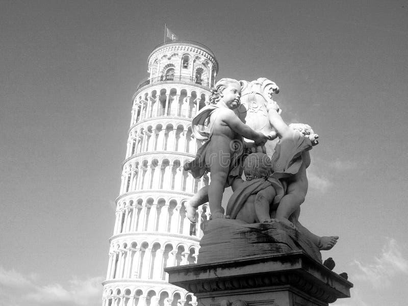 La torre inclinada de Pisa fotos de archivo libres de regalías