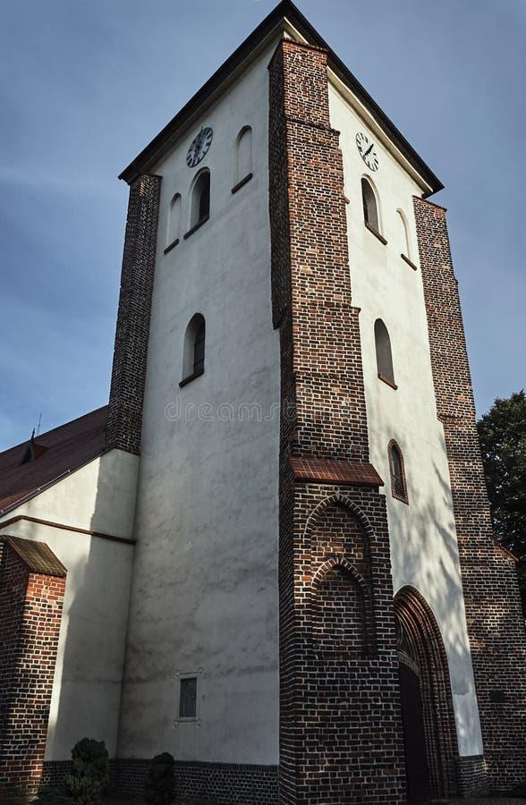 La torre medieval de ladrillos fotos de archivo libres de regalías