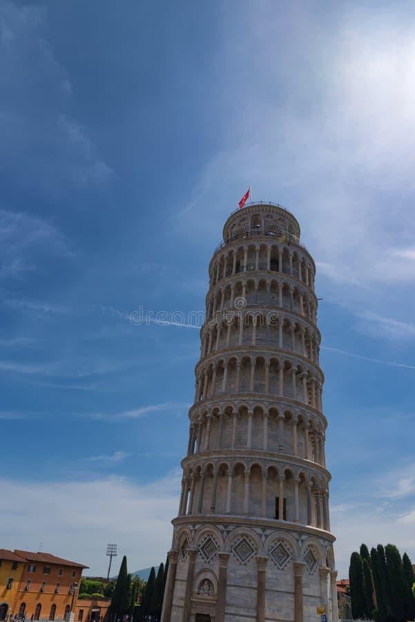 La torre pendente di Pisa, il quadrato del dei Miracoli della piazza di miracoli a Pisa, Toscana, Italia fotografia stock