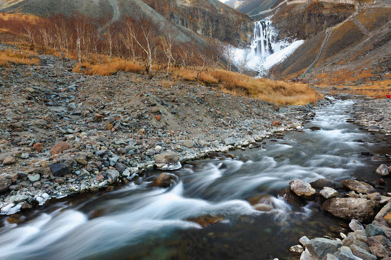 La torrente montano di changbai fotografia stock