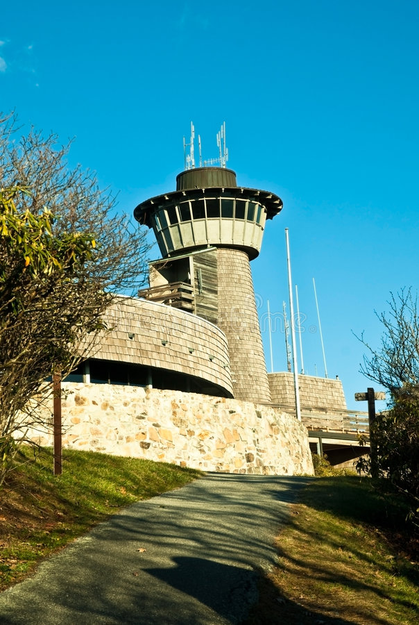 La torretta a Brasstown calvo immagine stock libera da diritti
