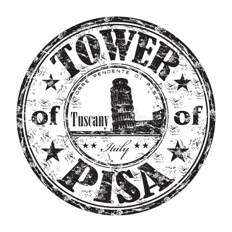 La torretta del timbro di gomma di Pisa illustrazione di stock