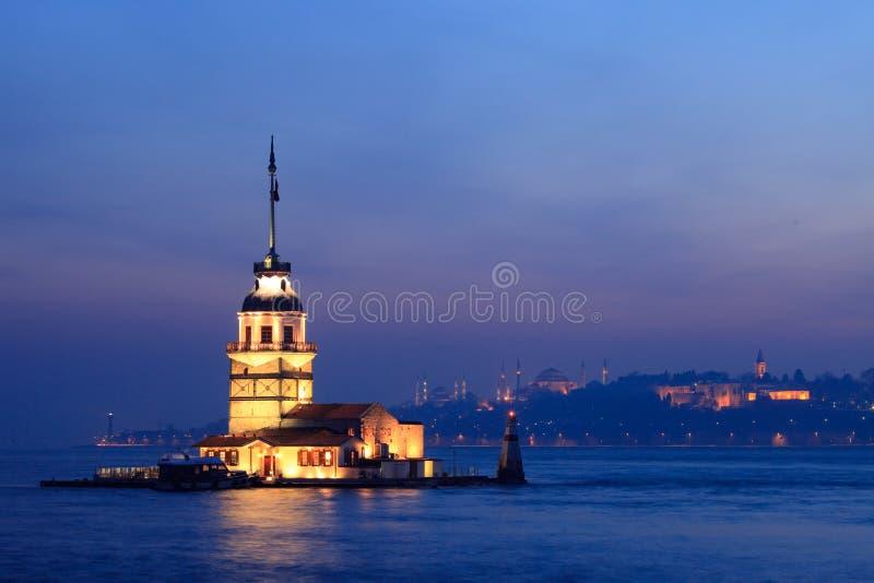 La torretta della ragazza a Costantinopoli fotografie stock libere da diritti
