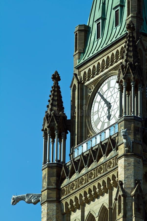 La torretta di pace sulla collina del Parlamento, Ottawa, Ontari immagini stock