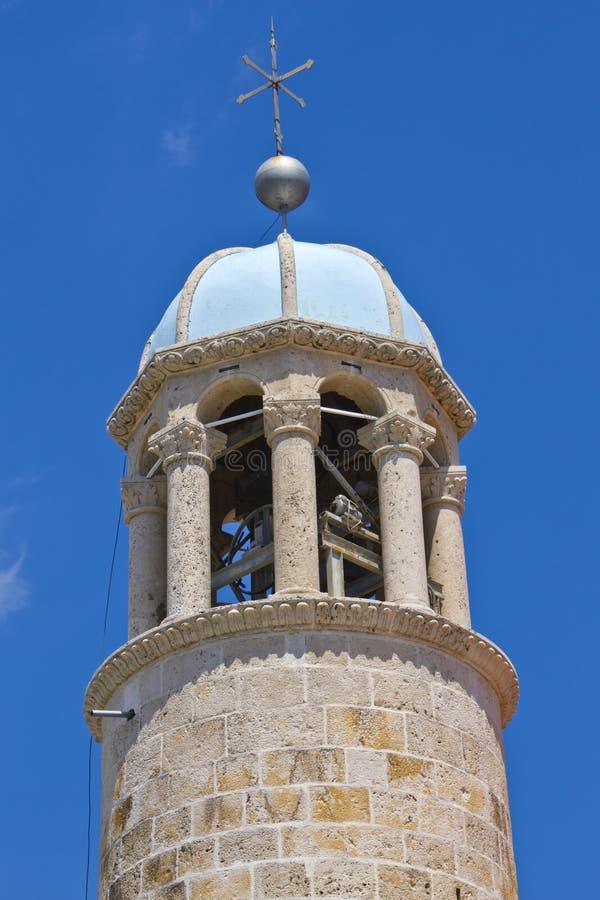 La torretta di segnalatore acustico della chiesa della nostra signora immagine stock