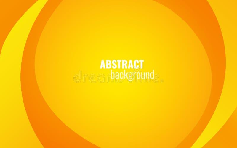 La torsión amarilla alinea el fondo Diseño moderno de la plantilla para el sitio web, folleto, tarjeta Elementos ligeros en el co stock de ilustración