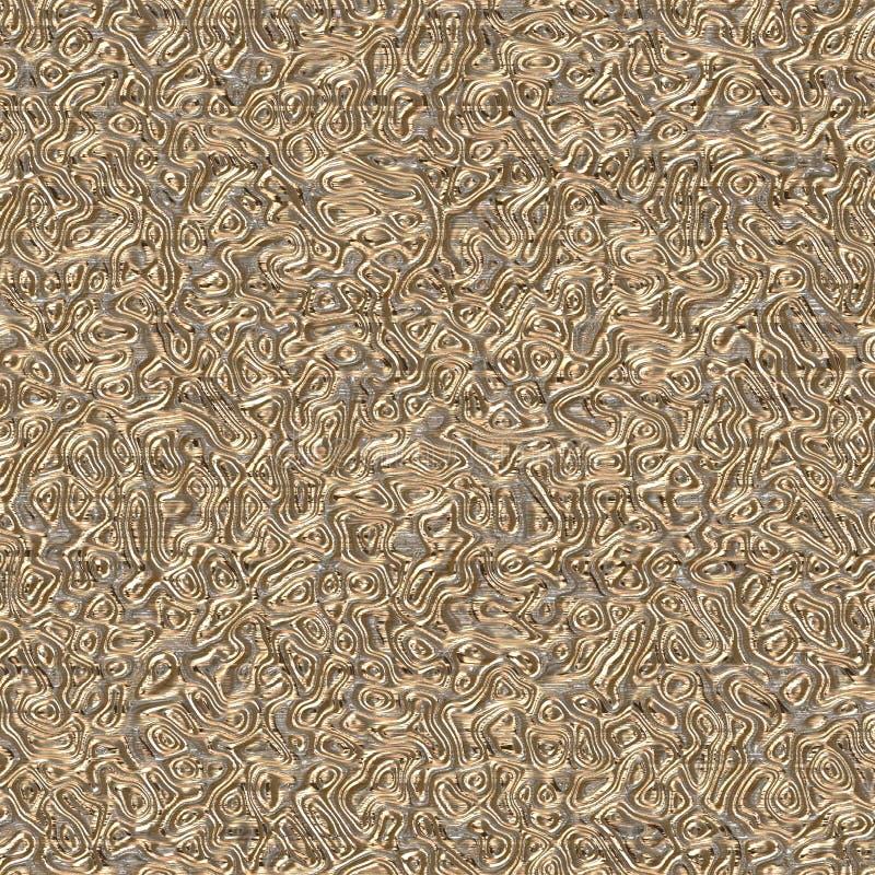 La torsión del hilo de seda de oro imagen de archivo