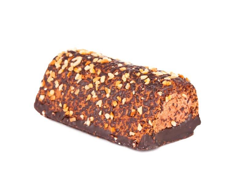 La torta de chocolate aisló imagen de archivo libre de regalías