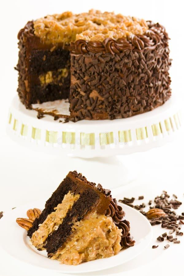 Torta de chocolate alemana foto de archivo libre de regalías