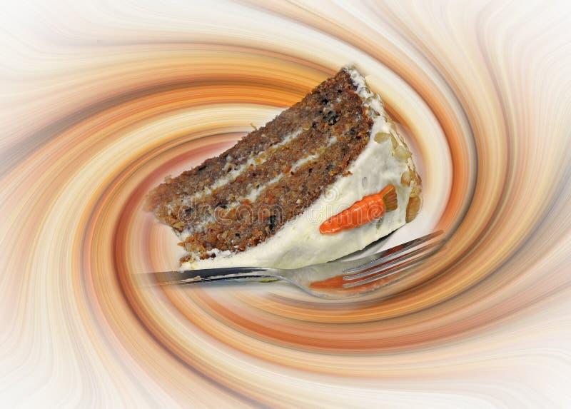 La torta de zanahoria del capuchino del café del chocolate corta el latte que remolina de los remolinos de lujo de lujo fotografía de archivo libre de regalías