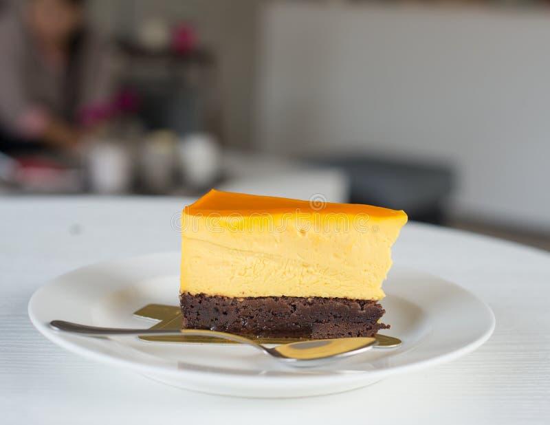 La torta di formaggio è deliziosa immagine stock