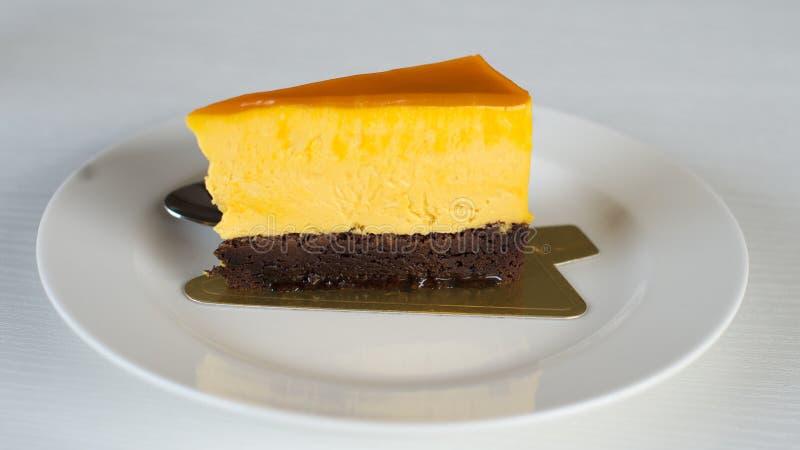 La torta di formaggio è deliziosa fotografia stock