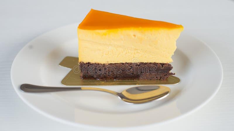 La torta di formaggio è deliziosa immagini stock