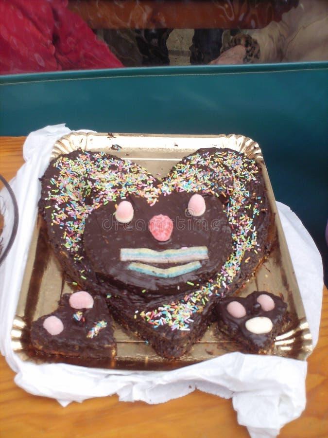 La torta dolce immagine stock