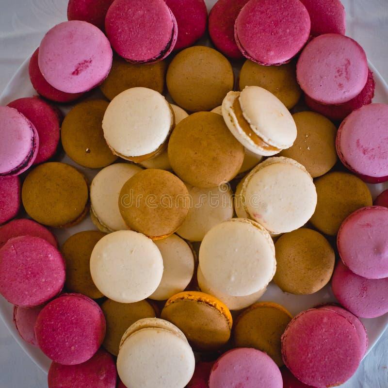 La torta nunziale è servita agli ospiti immagine stock