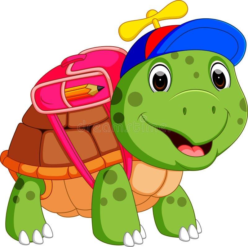 La tortuga linda va a la escuela libre illustration