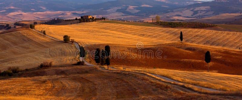 La Toscana - valle di Orcia immagine stock libera da diritti