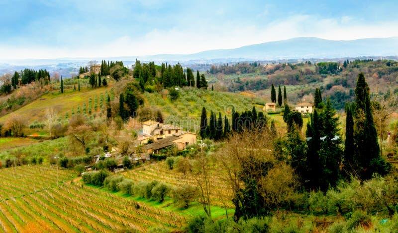 La Toscane en hiver photos stock