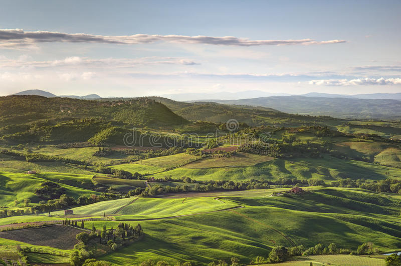 La Toscane Italie photographie stock libre de droits