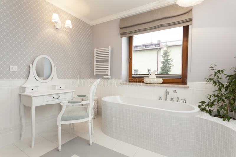 la toscane - salle de bains avec la coiffeuse image stock - image ... - Coiffeuse Salle De Bain