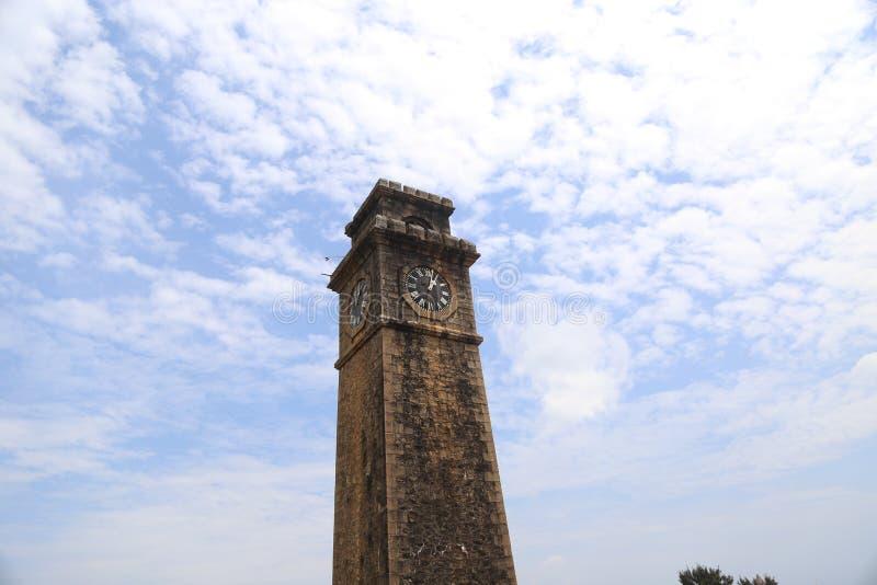 La tour d'horloge de Galle images libres de droits