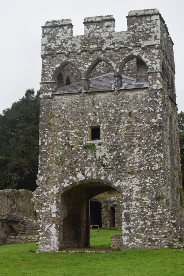 La tour d'importance historique a laissé abandonné Position toujours d'une ruine oubliée d'un propriétaire riche images stock