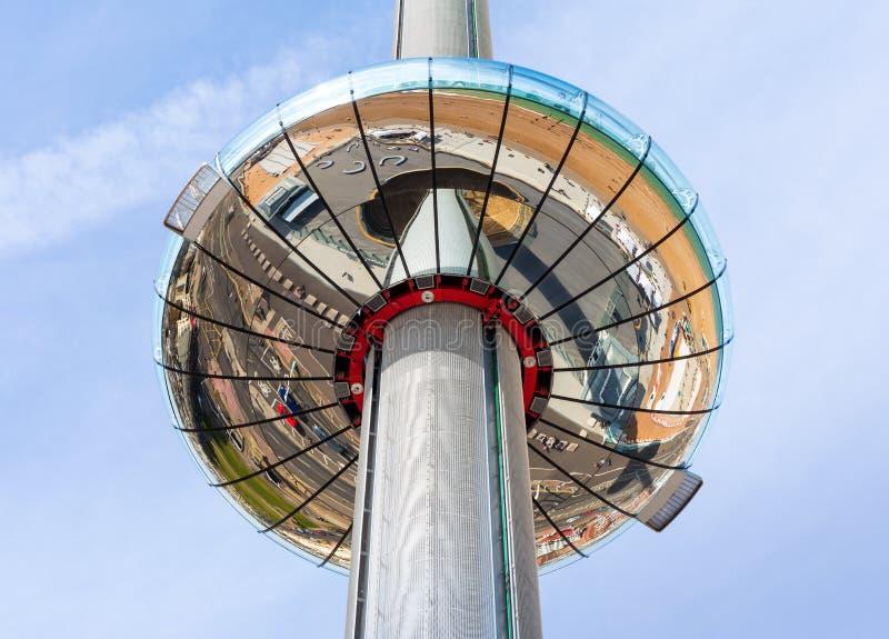 La tour d'observation de ` de British Airways i360 de `, Brighton photographie stock libre de droits