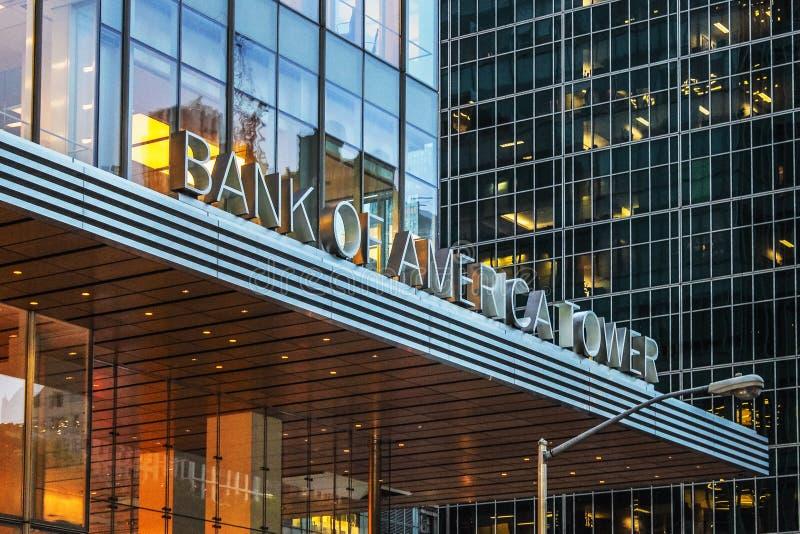 La tour de la Banque d'Amérique photos stock