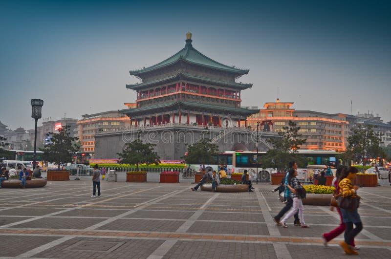 La tour de Bell dans Xian photographie stock