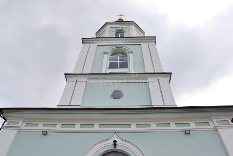 La tour de cloche de la cathédrale orthodoxe image libre de droits