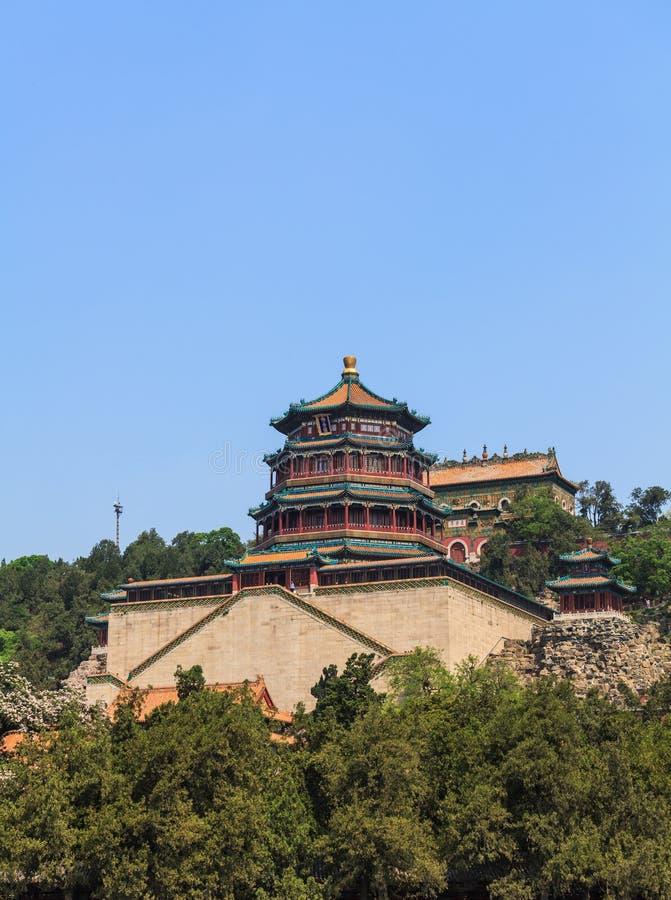 La tour de l'encens bouddhiste dans Pékin photos libres de droits