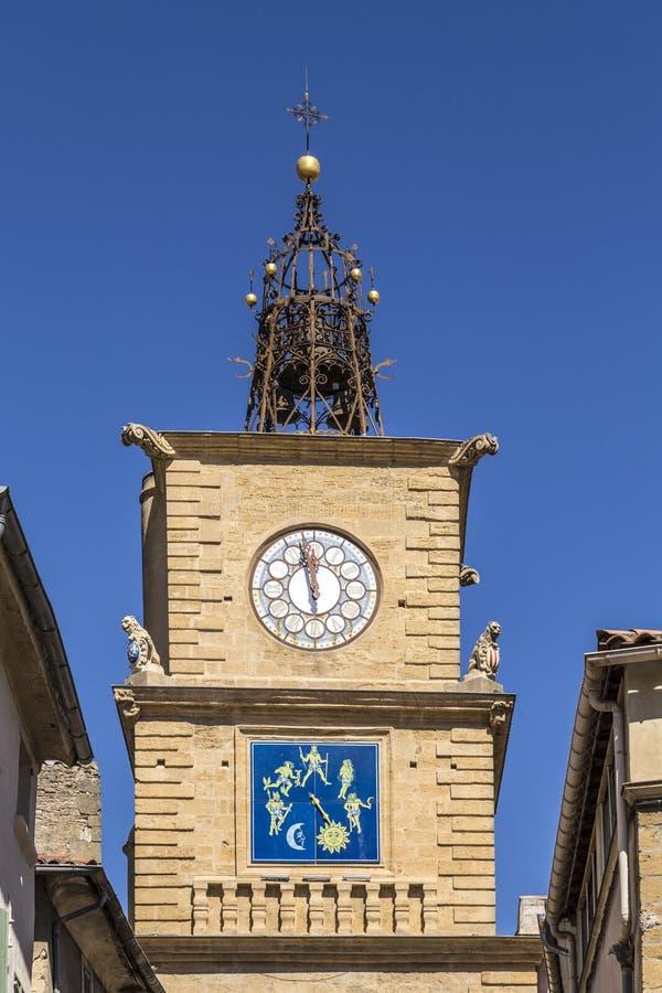 La Tour de L Horloge in Salon de Provence immagini stock
