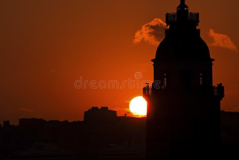 La tour de la jeune fille à Istanbul, Turquie photo stock