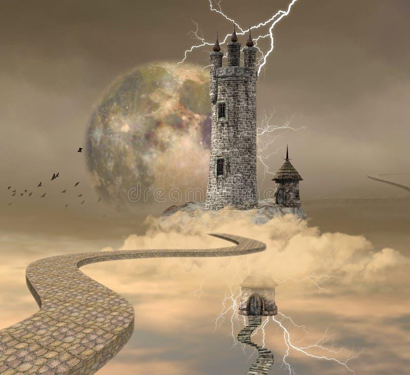 La tour de magicien illustration libre de droits