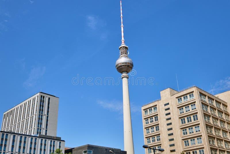 La tour de télévision, Berlins la plupart de point de repère célèbre photo stock