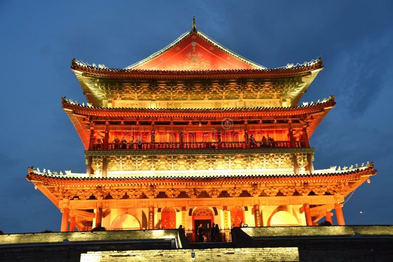 La tour de tambour de Xian, Chine photos libres de droits