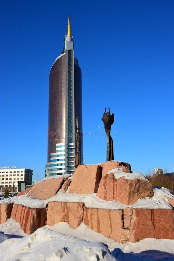 La TOUR de TRANSPORT à Astana image libre de droits
