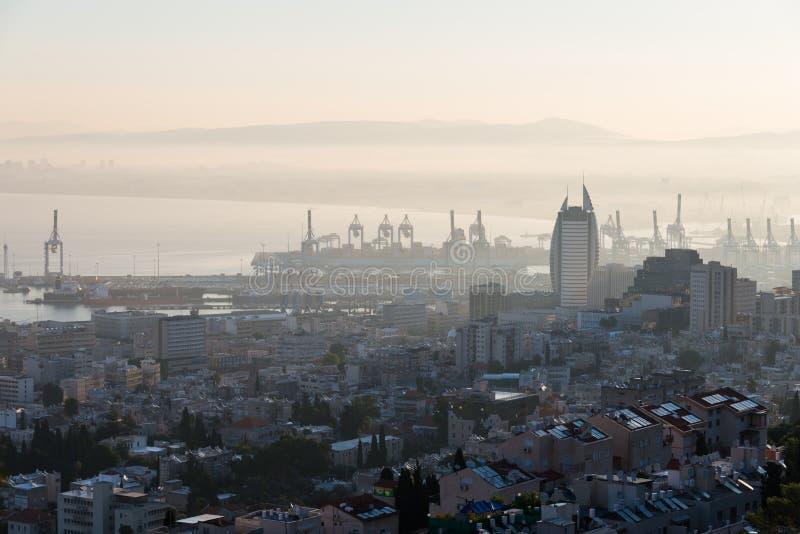 La tour de voile à Haïfa photographie stock libre de droits