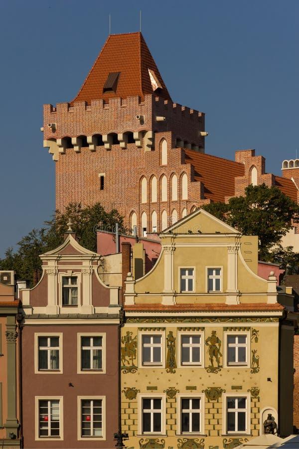 Tour du château royal. Poznan. La Pologne photo libre de droits