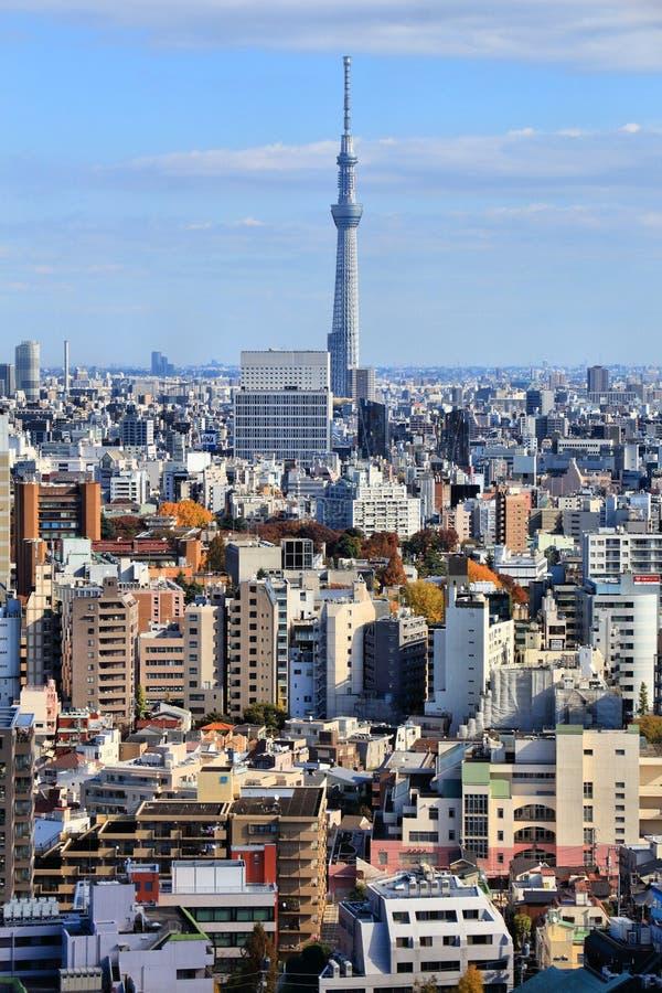 la tour en acier de Tokyo d'?l?vation r?sidentielle moderne ?lev?e en verre concr?te du Japon de constructions de construction d' photographie stock libre de droits
