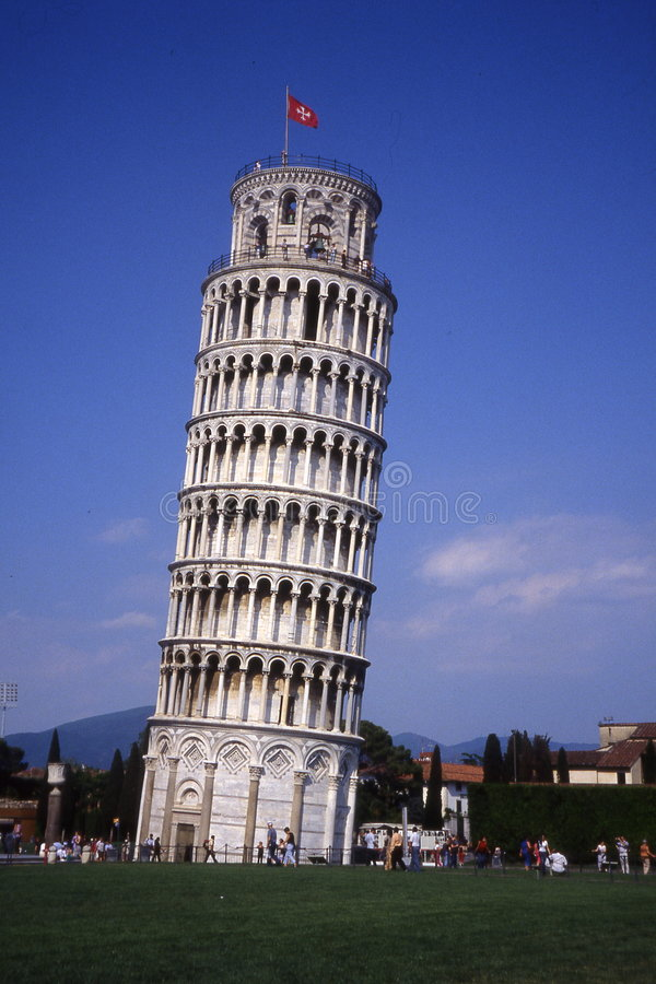 La tour penchée de Pisa.Tuscany. photos libres de droits
