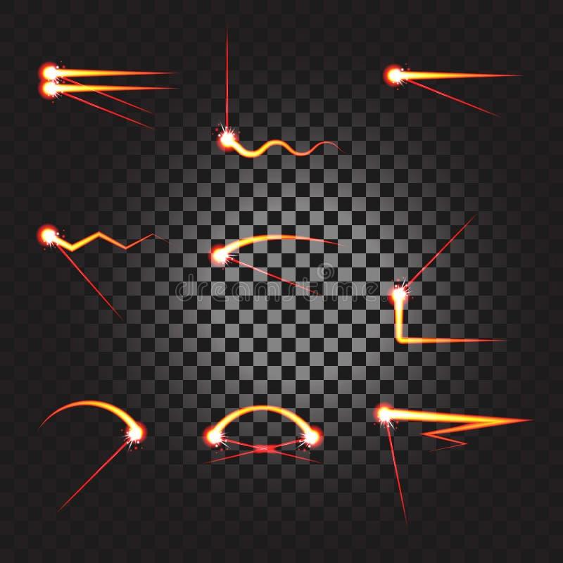 La trace de laser soulignent l'ensemble illustration libre de droits