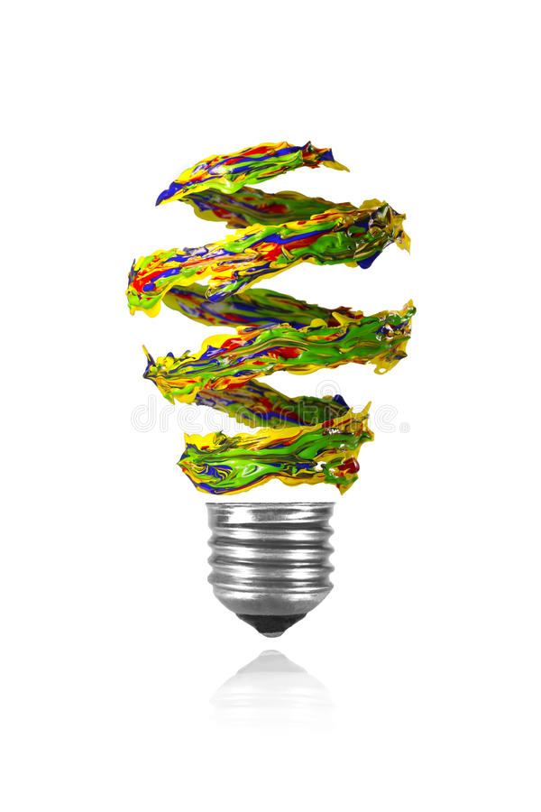 La trace en spirale rouge jaune de peinture de vert bleu a for Peinture conceptuelle